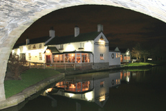 Saracens Head opens on Halsall's canal-side
